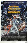 MOONRAKER Movie Silk Fabric Poster James Bond 007 Roger Moore $16.34 CAD on eBay