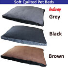 Soft Quilted Dog Bed Washable Non Slip Pet Bed Cushion Keeps Your Pet Warm