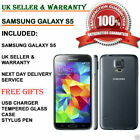 Samsung Galaxy S5 Sm-g900f-16gb 4g Unlocked Smartphone All Colours Excellent Uk