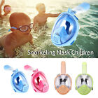Kids Full Face Snorkeling Mask Anti-fog Breathe Easier Foldable Diving Mask GIFT