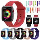 Replacement Silicone Sport Watch Band Strap Belt For Apple Watch Series 4/3/2/1 image