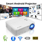 Full HD Android Bluetooth Projector Home Theater HDMI USB Youtube Kodi 1080P LED