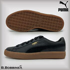 PUMA Black Basket Classic Gum Deluxe Size UK 3 4 5 6 Trainers Boys Girl Ladies