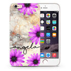 Personalised Flower Gold Marble Name Initial Custom Phone Case Cover iPhone Y27