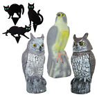 Owl Falcon Cat Decoy Prey Bird Repellent Garden Ornaments Pest Control Deterrent