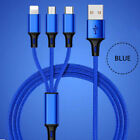 3in1 Fast Micro USB C Charging Cable Universal Multi Function Phone Charger Cord