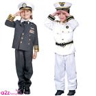 KIDS NAVY ADMIRAL SEAMAN SAILOR CAPTAIN MILITARY CHILDRENS FANCY DRESS COSTUME