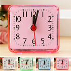 Bedroom Alarm Clock Table Decoration Small Square Bed Compact Travel Mini Pink