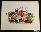 John Nelson Print West Coast Art Unsigned 25x19 Sea Monster Eagle Otter Mask etc