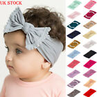 UK STOCK Girls Kids Baby Bow Hairband Headband Stretch Turban Knot Head Wrap New