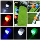 US Bike Bicycle Cycling Head Front Rear Wheel LED Light Lamp Silicone Outdoor GI
