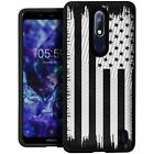 For (Nokia 3.1 Plus, MetroPCS) Shock Case with Grip Texture Hard Shell Cover