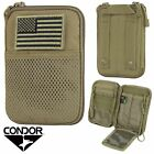 Condor MA16 MOLLE Modular Pocket Passport ID Tool Pouch with USA Flag Patch