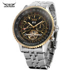 Jaragar Brand Stainless Steel Day Date Tourbillon Automatic Mechanical Men Watch image