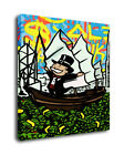 """Alec Monopoly Graffiti Oil Painting Print On Canvas Decor""""In The Sea Of Money"""""""