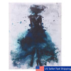 Watercolor Fashion Girl Abstract Art Canvas Print Oil Painting Poster Home Decor