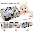 Soft and comfortable 3 in 1 diaper tote bag travel crib diaper change station