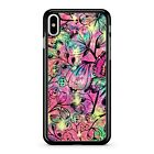 Space Flowers Pattern Celestial Colourful Rainbow Starry Sky 2D Phone Case Cover