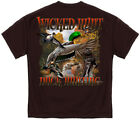 Duck Hunting T Shirt Wicked Hunt Water Fowl Bird Lab Shotgun Outdoors Tee S-3XL