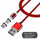 iPhone Android Type C Micro USB Port Cable Magnetic Adapter Lighting Charger