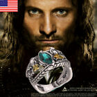 USA Lord of The Rings Jewelry Aragorn's Ring of Barahir Platinum Plated Ring HOT image