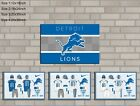 HD Print Oil Painting Home Decor on Canvas Detroit Lions 4PCS/SET Unframed $36.0 USD on eBay