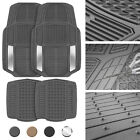Heavy Duty Rubber Floor Mats for Car SUV Van Truck All Weather 4 Pieces Set on eBay