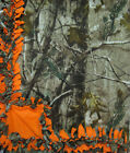 Handmade FLEECE TIE-BLANKET 60X90 XL or 60X72 Realtree HD Camouflage Orange 2lyr