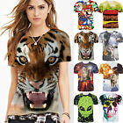 3D Print Couples Mens Womens Short Sleeve Summer T shirt Slim Graphic Tee Tops