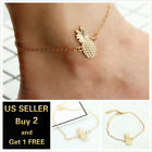 12+ Styles Gold Anklet Ankle Bracelet Foot Chain Heart Beads Pineapple Rope
