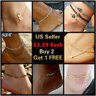 Внешний вид - 17+ Styles Gold Anklet Ankle Bracelet Foot Chain Heart Beads Pineapple Rope