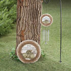 """Pet Memorial Stepping Stone & Wind Chime Cat """"OR"""" Dog Set Garden Grave Marker"""