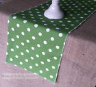 Green Polka Dot Table Runner Birthday Party Table Centerpiece Dining Kitchen
