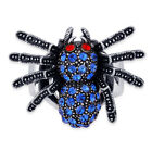 Elegantly SPOOKY Austrian Crystal SPIDER Stretch RING / WATCH Japanese Movement