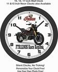 2019 INDIAN FTR1200S RACE REPLICA MOTORCYCLE WALL CLOCK-HARLEY DAVIDSON, TRIUMPH $38.51 CAD on eBay