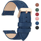 6 Colors Fullmosa18/20/22/24mm Quick Release Leather Wrist Watch Band Strap Belt image