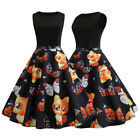Womens Party Dresses Vintage Style Rockabilly Pinup Swing Midi Dress with Belt