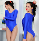 Bilelika 101-00 Spandex Sleeved Women Closed Leotard Choose Your Color and Size