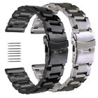 18 19 20 21 22 24 25mm Stainless Steel Wrist Watch Band Replace Wristband Strap image