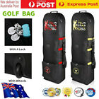 Travel Golf Bags Flight Air Protective Carrying Case Cover Carrier With Wheels