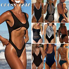 2019 Women One Piece Swimsuit Push-up Padded Bikini Swimwear Bathing Suit Black $8.99 USD on eBay