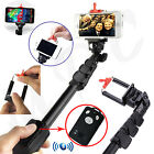 Selfie Stick Extendable Monopod Holder + Bluetooth Remote Shutter For Samsung