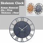 Modern Large Skeleton Wall Clock Romantic Numeral Home Minimalist Handcraft CA
