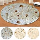 USA Burrito Blanket Flour Tortilla Round Thick Flannel Fleece Blanket Decor image