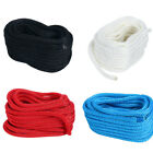 1/2inch 50FT Double Braid Nylon Rope Dock Line Mooring Rope Black Blue White Red