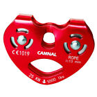 25KN Climbing Rescue Double Pulley Speed Cable Trolley for 13mm Rope