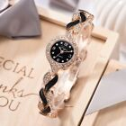 Elegant Women Ladies Dress Quartz Wrist Watch Leaf Chain Bracelet Casual Watches image