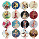 Vintage Style Pin backs 2.2 in. Pin-up Girls Badge Pin Button Bag Decor Fashion photo