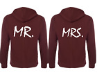 Couple Matching Hoodies Mr.and Mrs. Back Print Hooded Sweatshirts Jumper