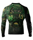 Raven Fightwear Men's Poison Element MMA BJJ Rash Guard Black